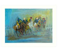 The Polo Game - Victoria Australia Art Print