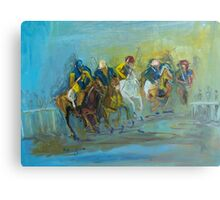 The Polo Game - Victoria Australia Canvas Print