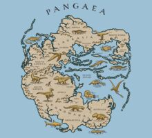 map of the supercontinent Pangaea Baby Tee