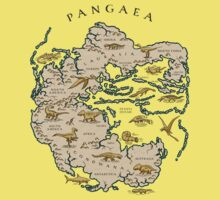 map of the supercontinent Pangaea Kids Clothes