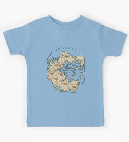 map of the supercontinent Pangaea Kids Tee