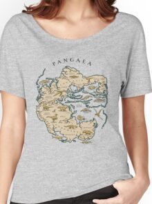 map of the supercontinent Pangaea Women's Relaxed Fit T-Shirt
