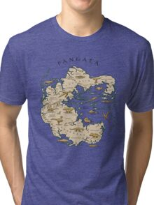 map of the supercontinent Pangaea Tri-blend T-Shirt