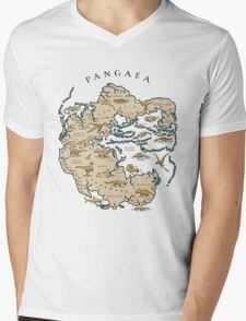 map of the supercontinent Pangaea Mens V-Neck T-Shirt