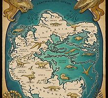 map of the supercontinent Pangaea by Richard Morden