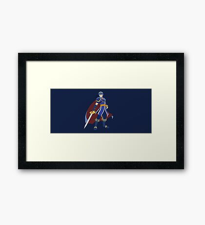 Marth (Blue) - Super Smash Bros. Framed Print