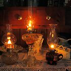 3 Oil Lamps by Peter Bodiam