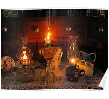 3 Oil Lamps Poster