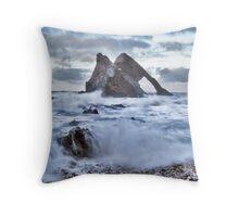 Bow Fiddle Rock, Scotland Throw Pillow
