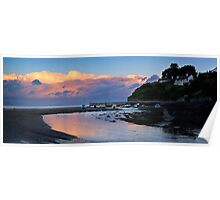 Abersoch Harbour and Jetty sunset Poster