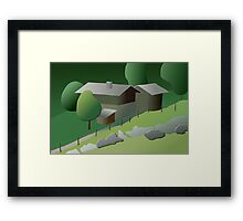 Once upon a time in Ballenberg Framed Print