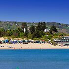 Abersoch beach panoramic by Turtle  Photography