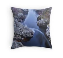 Moving Water, Speyside, Scotland Throw Pillow