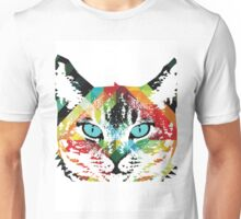 Cat Acid Trip -  Colorful Art by Robert R Unisex T-Shirt