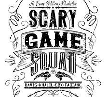 Scary Game Squad Logo (Official) - Black by Dandimator