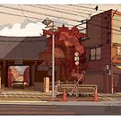 Autumn Temple by David  Kennett