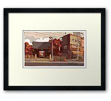 Autumn Temple Framed Print