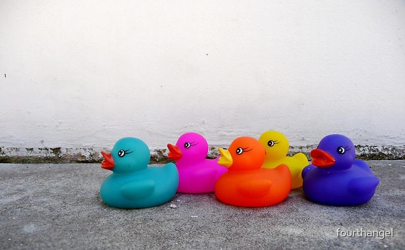 Five little duckies by fourthangel