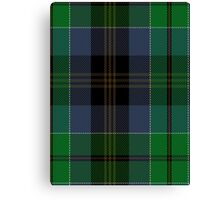 00523 Black Gold Tartan Canvas Print