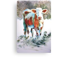 The Courage of Youth - Acrylic Cow Painting Canvas Print