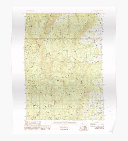 USGS Topo Map Oregon Callahan 279241 1990 24000 Poster