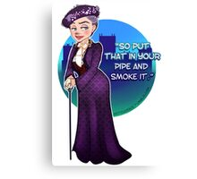 Violet Crawley, the Dowager Countess of Grantham Canvas Print