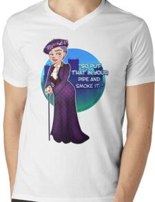 Violet Crawley, the Dowager Countess of Grantham Mens V-Neck T-Shirt