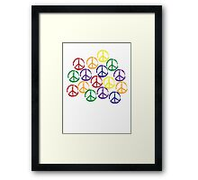 Peace Sign in all colors Framed Print