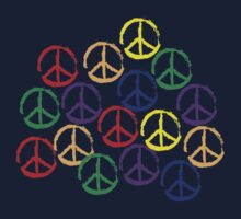Peace Sign in all colors Kids Tee
