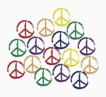Peace Sign in all colors Kids Clothes