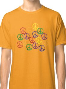 Peace Sign in all colors Classic T-Shirt