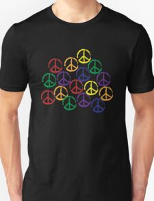 Peace Sign in all colors T-Shirt