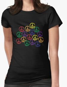 Peace Sign in all colors Womens Fitted T-Shirt