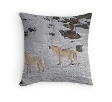Wolf Karaoke Throw Pillow
