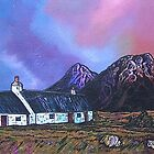 Black Rock Cottage and The Buachaille Early Spring, Glen Coe, Scottish Western Highlands. by Andrew Peutherer