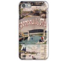 Gustave Fraipont Affiche Ouest Argenteuil Mantes iPhone Case/Skin