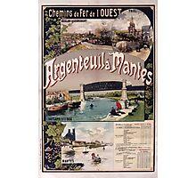 Gustave Fraipont Affiche Ouest Argenteuil Mantes Photographic Print
