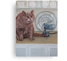 """""""Cat in the kitchen"""" Canvas Print"""