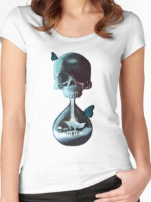 Until dawn - skull and butterflies Women's Fitted Scoop T-Shirt