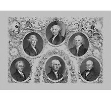 First Six U.S. Presidents Photographic Print