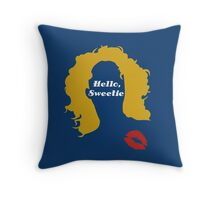 Doctor Who River Song Hello Sweetie  Throw Pillow