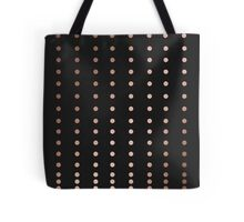 Rose Gold Dot Tote Bag