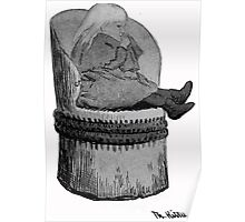 Theodor Kittelsen Unknown portrait of girl Ingrid in hollow log chair Poster