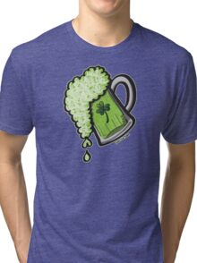 Saint Patrick's Day Glass of Beer Tri-blend T-Shirt