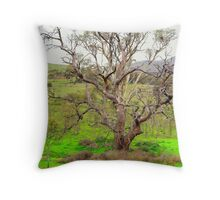 Nest in the tree Throw Pillow
