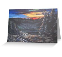 Sunset in the Smoky Mountains   Greeting Card