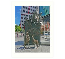 Petrie Tableau, King George Square, Brisbane Art Print