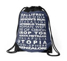 Doctor Who Subway Sign  Drawstring Bag