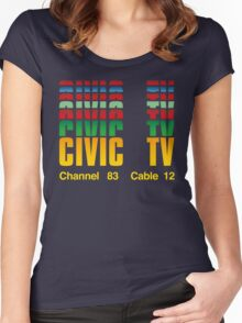 Civic TV Women's Fitted Scoop T-Shirt