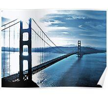 Blue Day @ Golden Gate Bridge Poster